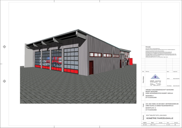 Vorstellung Entwurfsplanung Feuerwehrgerätehaus
