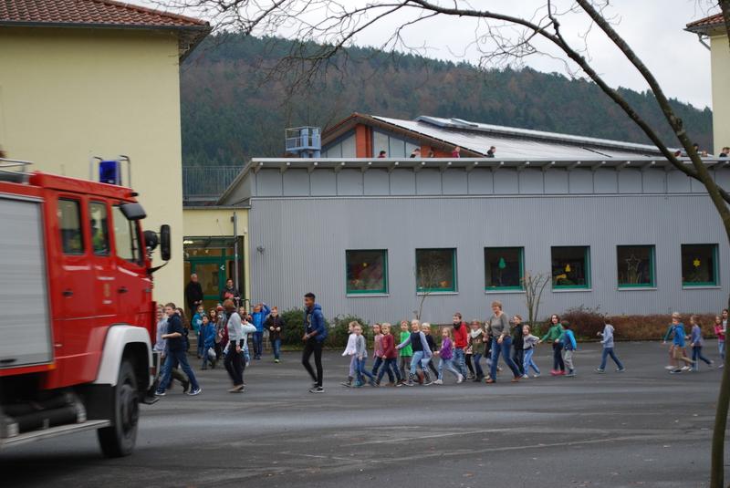 Brandschutzübung Sinngrundschule